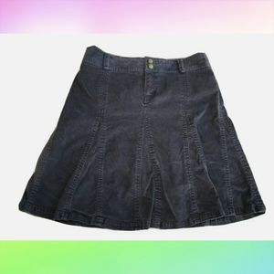 ATHLETA Blue Flare Pleated Corduroy Skirt sz 4